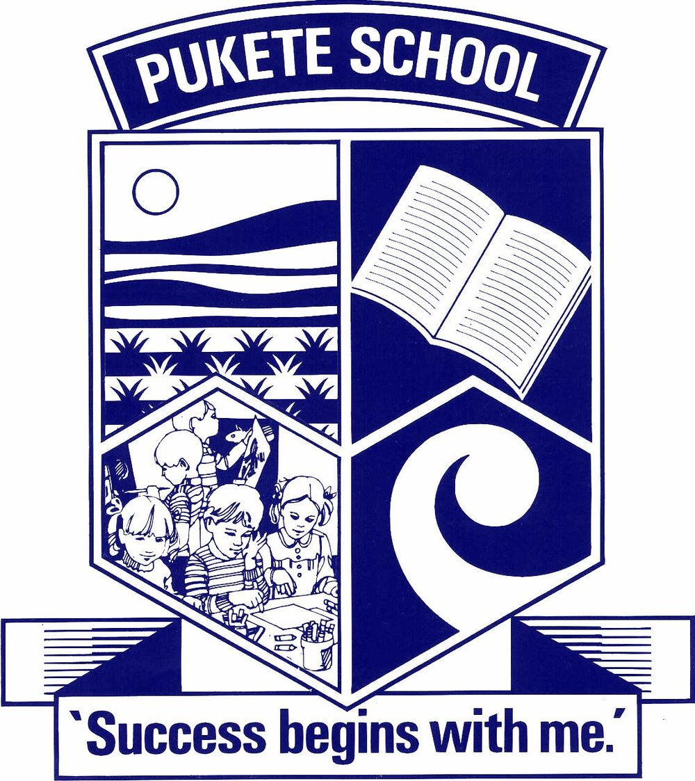 "Our school emblem represents: Top left-- is the Waikato River and the hill on which the old Pa site is located on Pukete Road. Top right--the open book represents the sharing of knowledge.   Bottom left--represents our children eager and willing to learn. Bottom right--the Koru represents our cultural diversity Our Mission ""Success Begins With Me""  We believe responsibility for successful learning is shared between family/whanau and teacher, and as a child grows and develops they will become more responsible for their own learning. We believe that all children can be successful and we want them to believe in themselves. We have a can do attitude to enable and empower every child to learn, create and succeed."