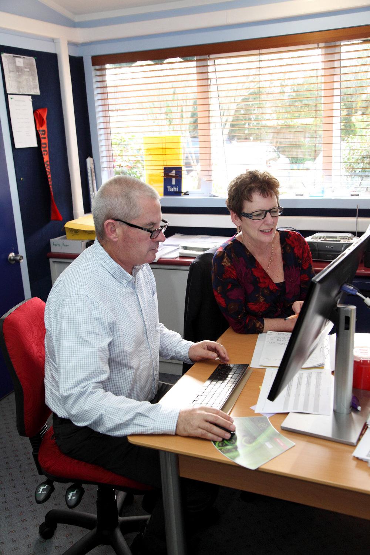 Principal Gavin Oliver & Duputy Principal Trish Haworth