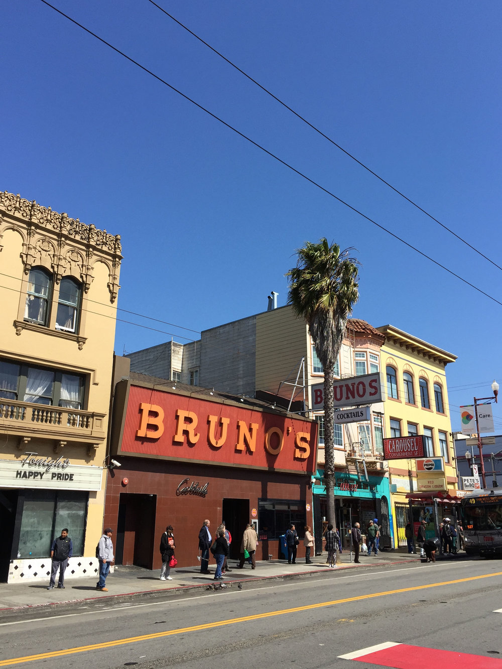 'Bruno's' Mission St, San Francisco, California, 2016.