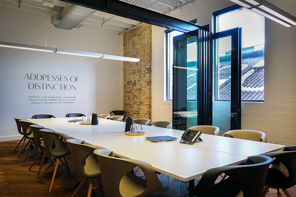 Office boardroom — real estate photography of commercial premises