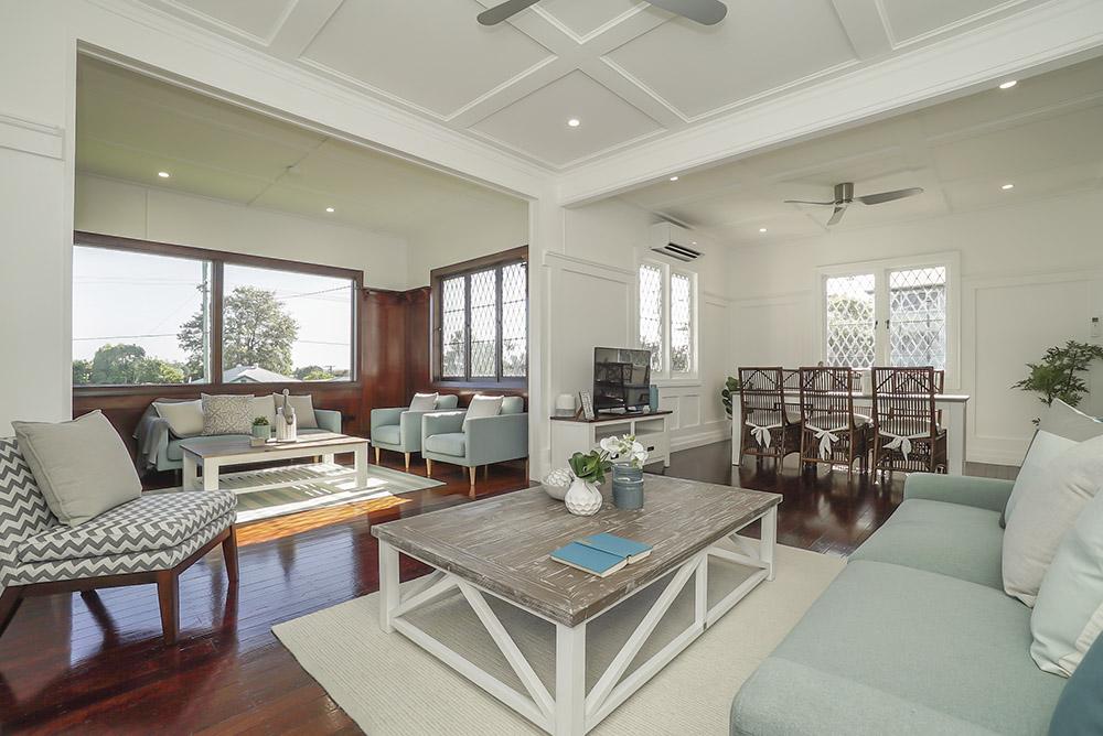 Light and roomy living room