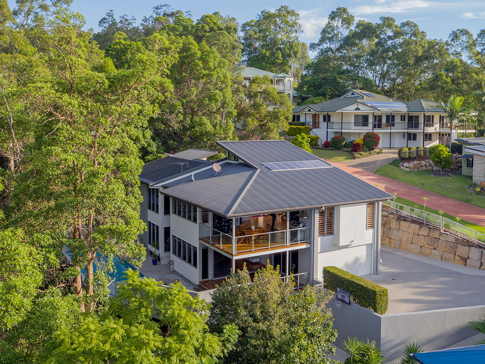Great location in Brisbane — real estate drone aerial marketing photography.