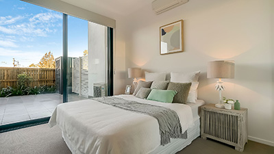 Real estate photography Brisbane apartment bedroom