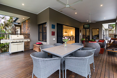 Real estate photography — external living area and verandah