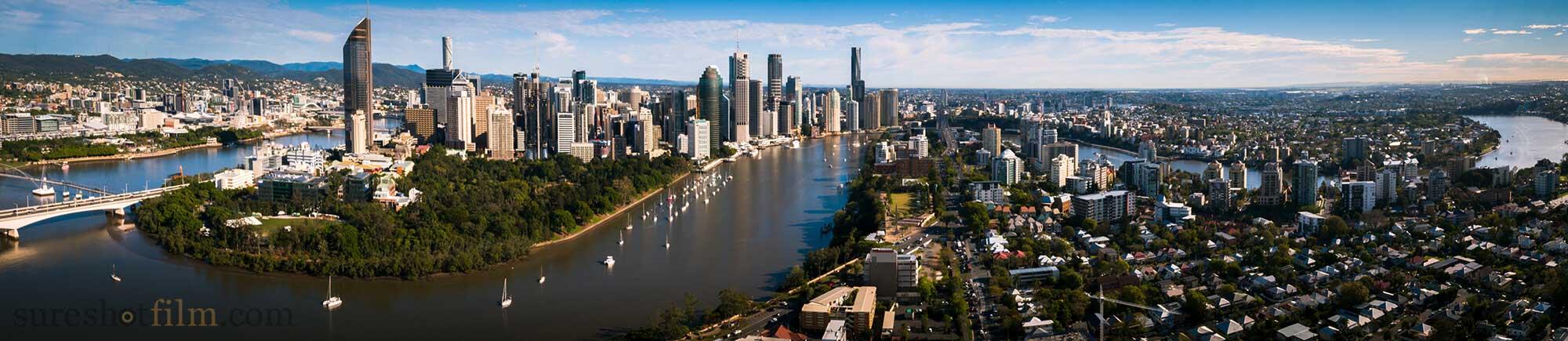 Drone Aerial Brisbane River Real Estate Promotion 2000