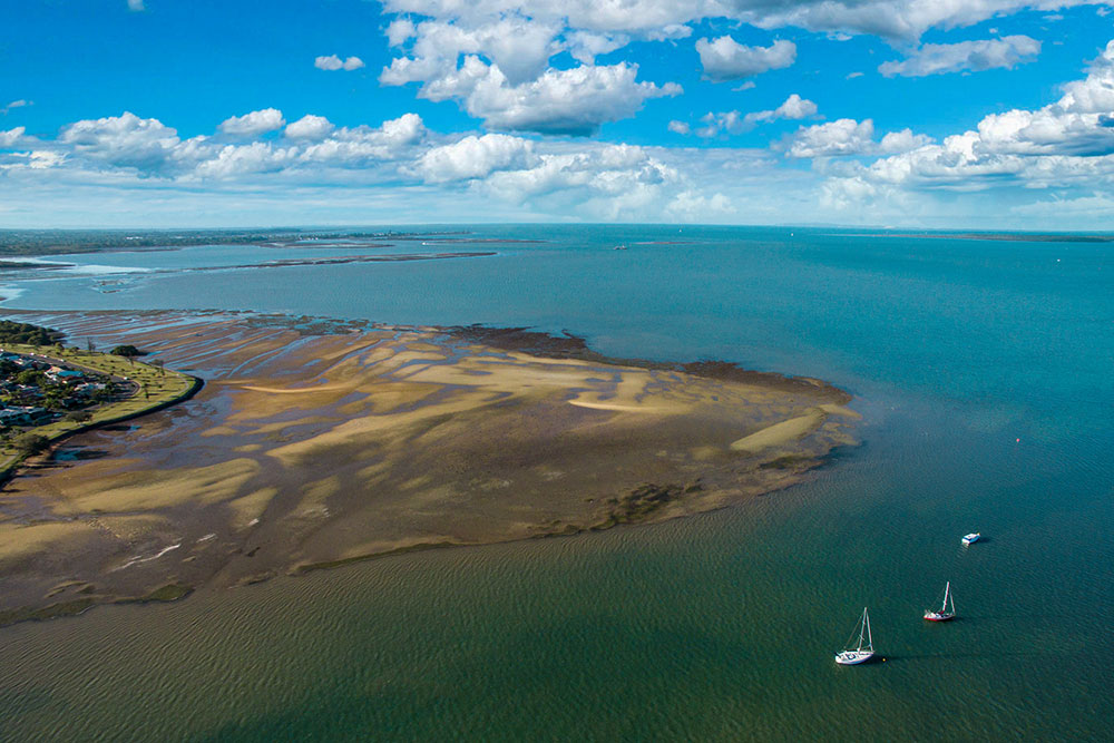 Moreton Bay at great heights: drone aerial photography