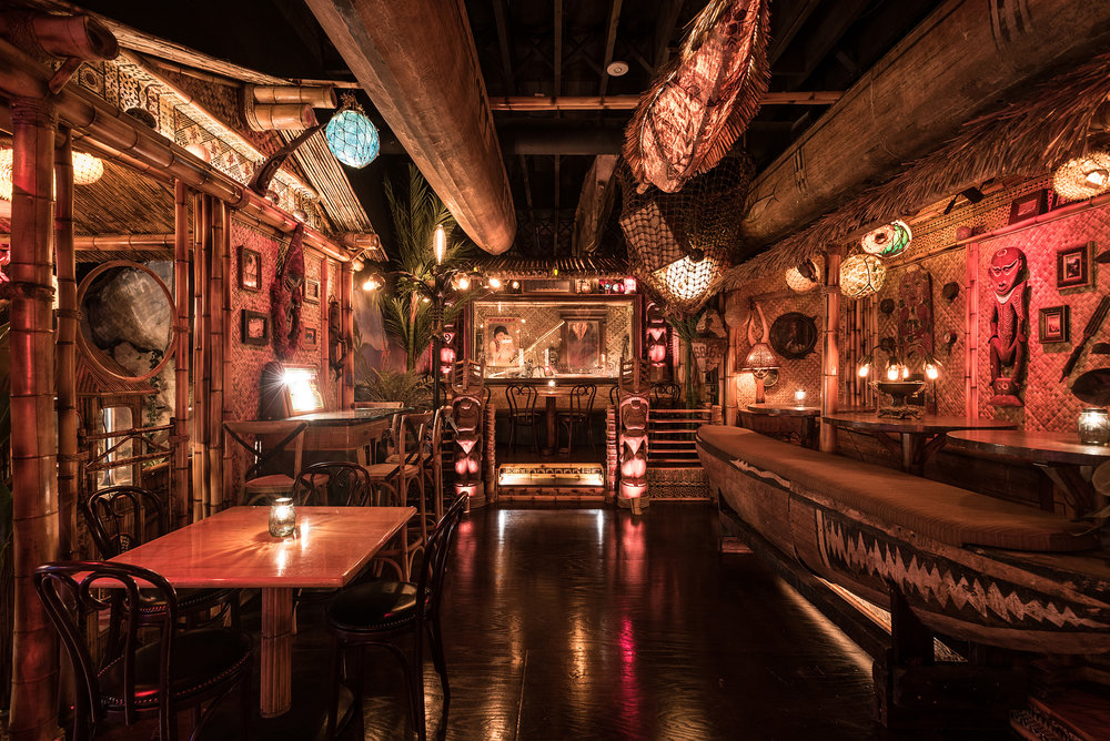 Pacific Seas at Clifton's Republic. It's a tiki speakeasy, what more could you want? Photo credit: Eater LA