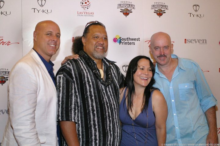 Eric Gilliom, Willie K, Carolyn Omine, and Brian Kohne at the Las Vegas Film Festival.