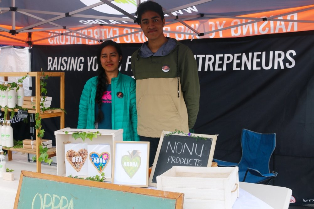 Marie and Keith,  OPPA Stall at the Mangere Market.