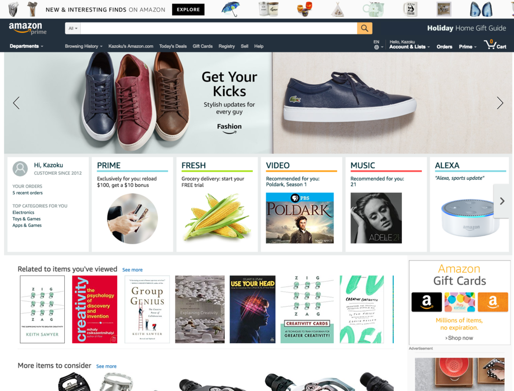 Using Multiplication method, let's try innovating Amazon User Experience.  -