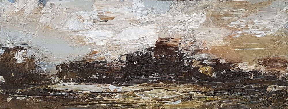 Low cloud over field & trees oil on canvas 20x50cm £550.jpg