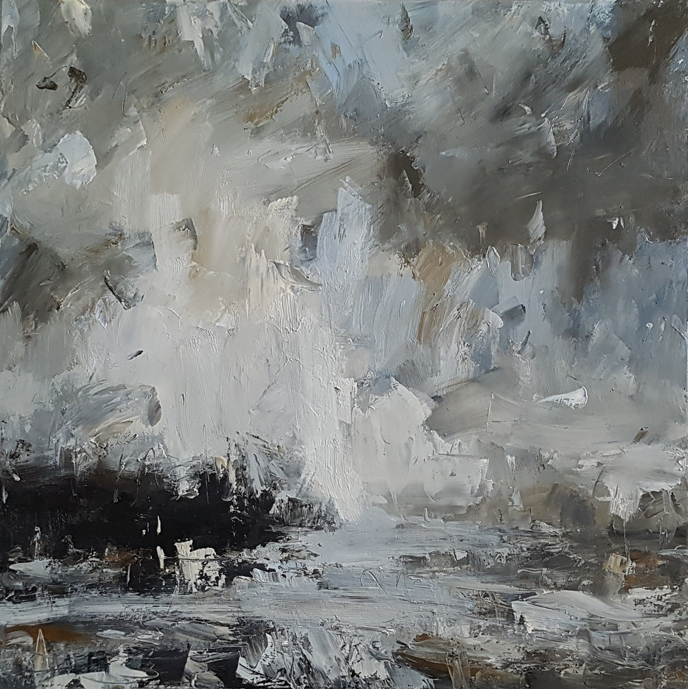 Pale Sky, Reflected 70x70cm oil on canvas £1,800.jpg