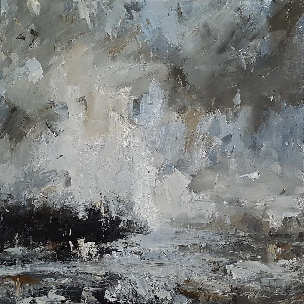 Pale Sky, Reflected 70x70cm oil on canvas £1,800.jpg