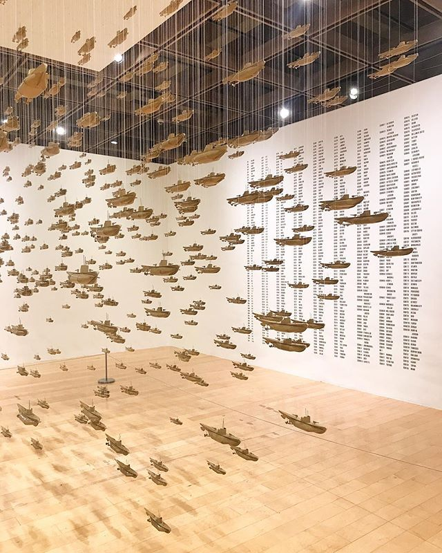 "#unsettledps at @psartmuseum - Chris Burden, ""All the Submarines of the United States of America,"" 1987 /// #TSBclient"