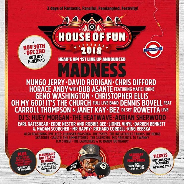 We're really excited to announce we'll be back at House Of Fun Weekender!!! Get your tickets now!!! #ska #music #houseoffunweekender #thelaunchers #madness