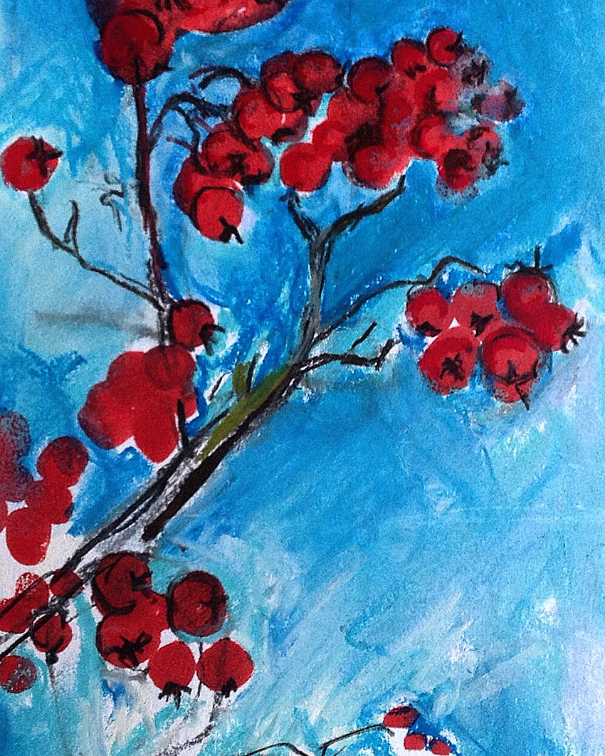 Berries Out of the Blue by Maxine Greer
