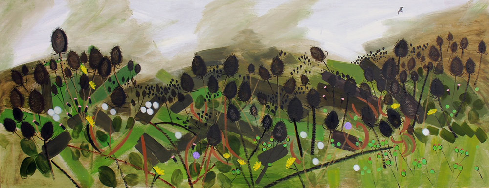 Jane Hindmarch: October Landscape Featuring Teasels