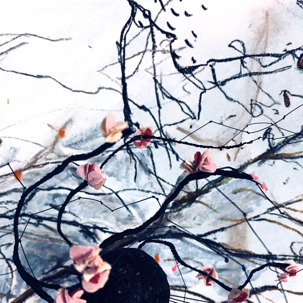 Maxine Greer: Stormy Blossom detail