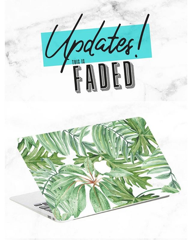 Updated : 🌴🌴🌴🌴👩🏼‍💻👨🏻‍💻💻 . . . #thisisfaded #thisisfadedcom #fadedstore #macbookskin #macbookair13 #macbookpro #lifestyle #decals  https://faded.store/shop/palmtrees