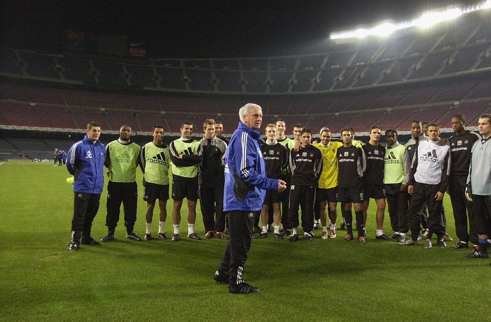 Bobby Robson, here with Newcastle in Barcelona in 2002, two years from the end of a distinguished 36-year coaching career.