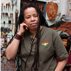 Gracia Hemans-Martin   Gracia Hemans-Martin, owner of  The Leather Genie , hails from Kingston, Jamaica. Growing up as an extremely artistic and creative child, Gracia was introduced to leather crafting at an early age. When art met leather, The Leather Genie was born. She became skilled at making belts, wallets, motorcycle seats, and other items, and particularly loves making one-of-a-kind handbags. As such, there are some very happy women and men sporting her bags.    Website  |  Instagram  |  Twitter  |  Facebook  gracia@theleathergenie.com
