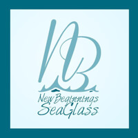 New Beginnings Sea Glass : beach cottage decor