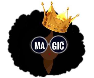 Black Girl Magic Gold Pin