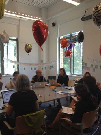 No novel writing workshop is complete without balloons.