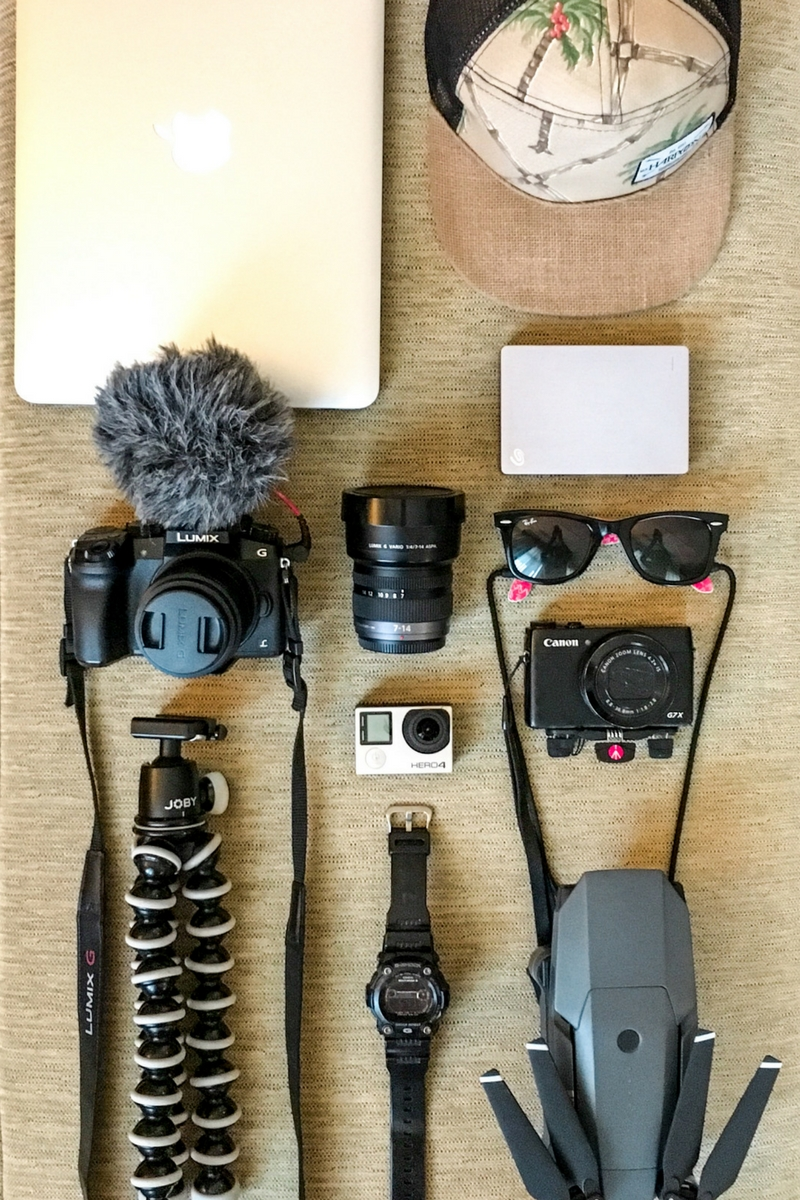 Vlogging gear for 1 year of travel