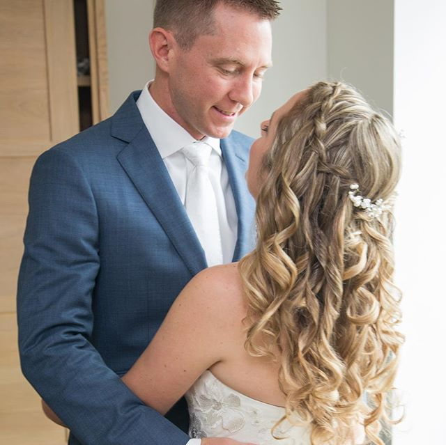 Bridal hairstyle by Toni  Photo credit Louise O'Rourke Photography http://www.louiseorourkephotography.com/  #sjbridalhairsalon #sjhairsalon #washingtownshipnj #bridalhair #phillybride #weddingbraid