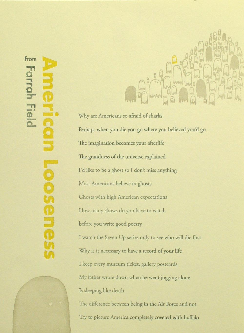 """""""American Looseness"""" by Farrah Field"""