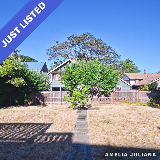 Just listed. 2537 Roseberry Ave An opportunity to own prime real estate in the heart of Victoria. 5 beds, 2 full baths, 2,112 sq. ft. 6,450 sq. ft. lot Offered at $789,500 . Visit www.ameliajuliana.com for more info