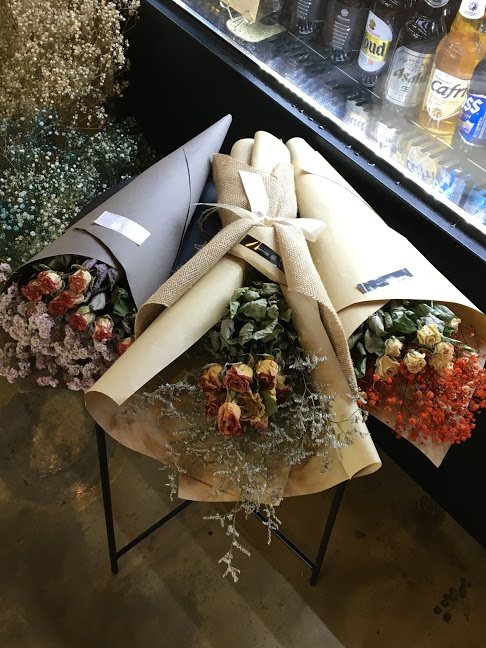 You can also purchase beautiful flower bouques and any of the flowers seen in the cafe!