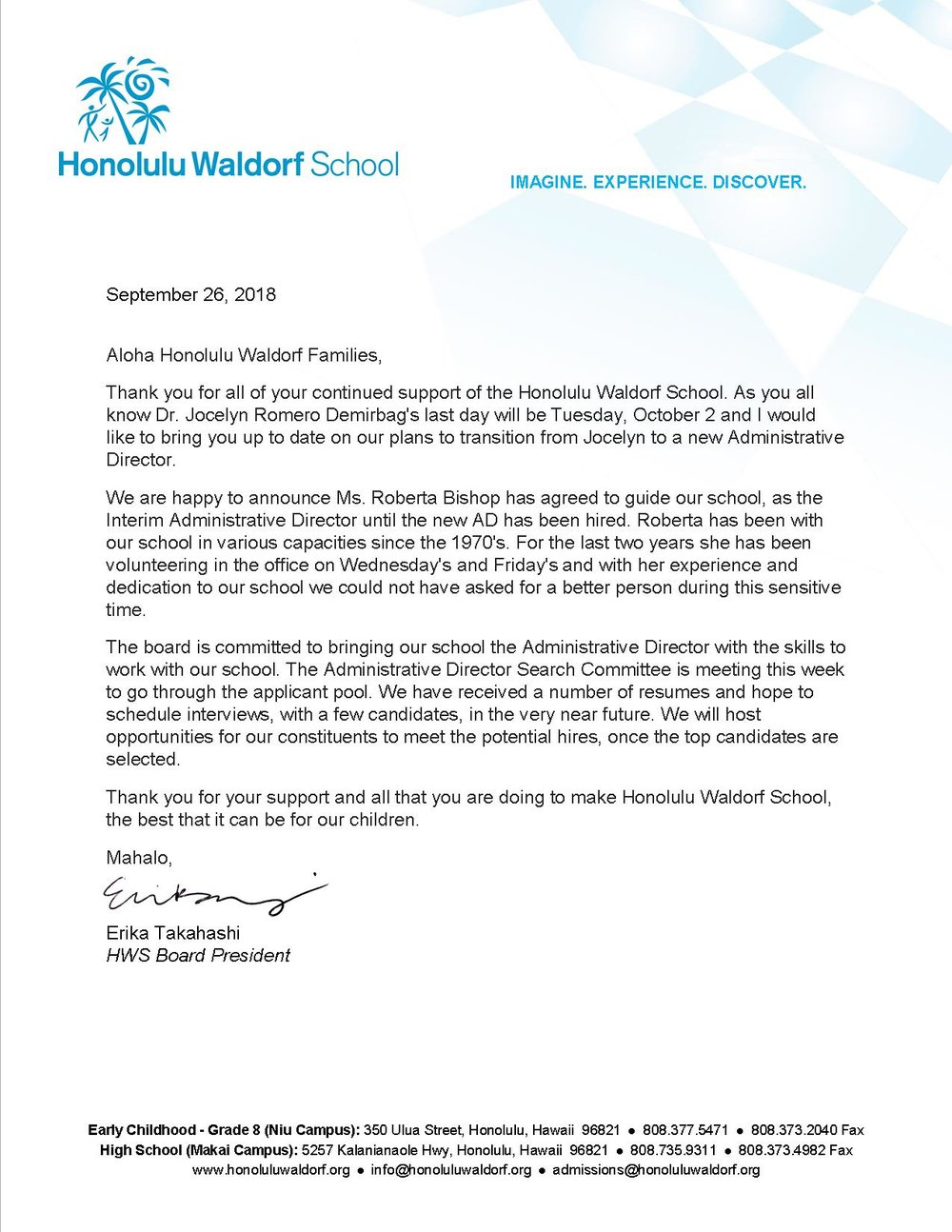 Board of directors letter regarding interim administrative director board of directors letter regarding interim administrative director honolulu waldorf school expocarfo Image collections