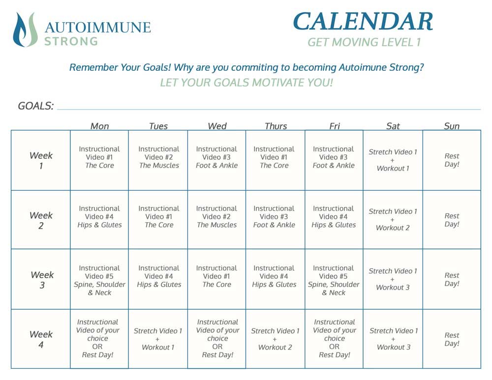 Printable Calendar - Keep track of your progress and goals with this printable calendar