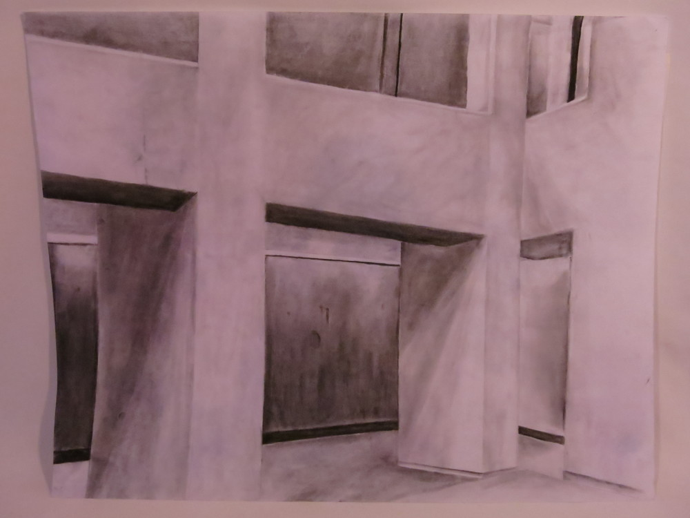 Inside Wellesley - graphite on paper