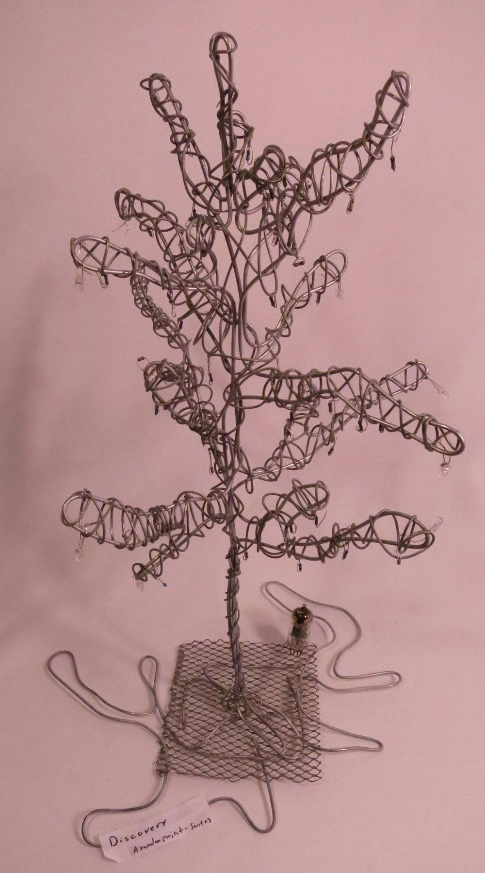 Tree of discovery - aluminum wire, resistors, vacuum tube