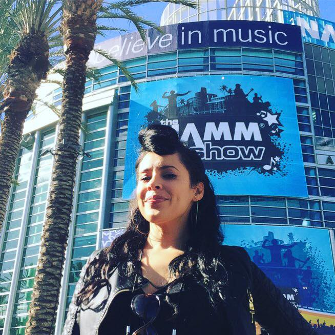 This Saturday, January 21, 2017 at the NAMM Music Convention. Actress, Singer & Songwriter CARMEN PEREZ.