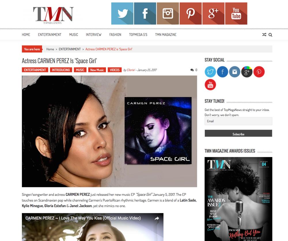 Carmen Perez in Top Mega News Magazine