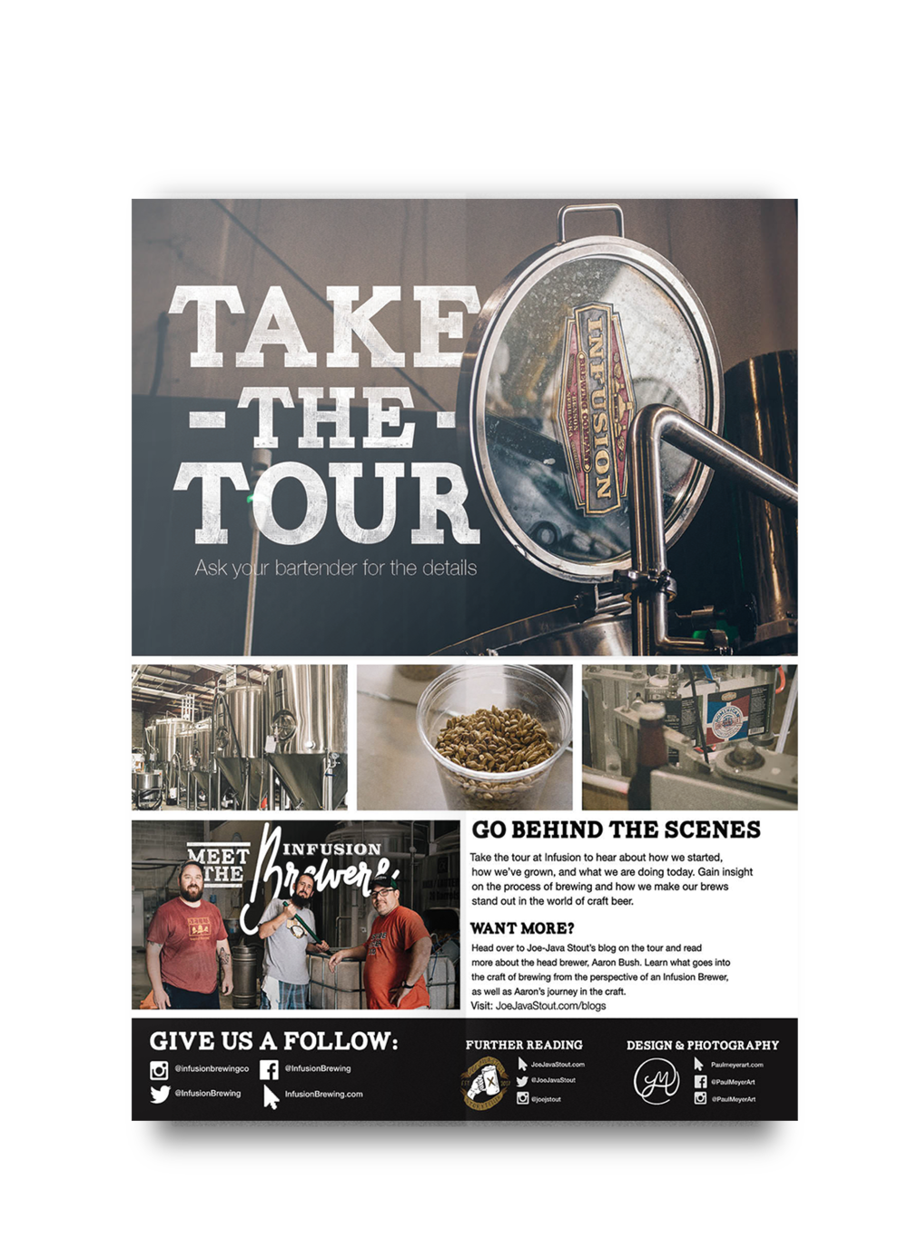 Infusion Brewery Tours - Poster created for a local brewery advertising the brewery tours to hang in the taproom.