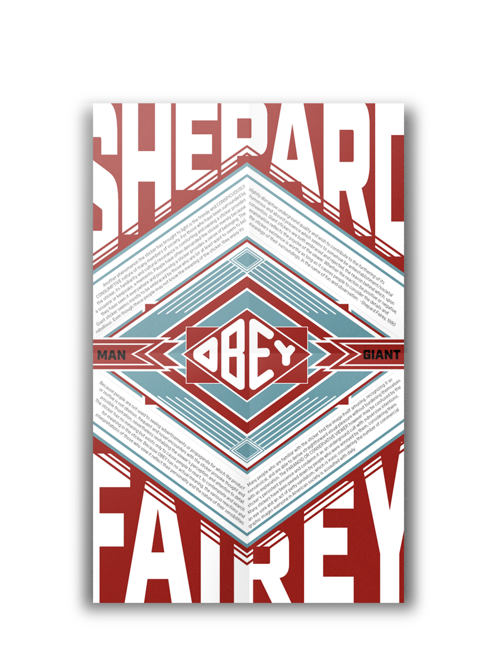 Shepard Fairey Manifesto - This is a poster I created in a style similar to Fairey's in order to celebrate is manifesto.
