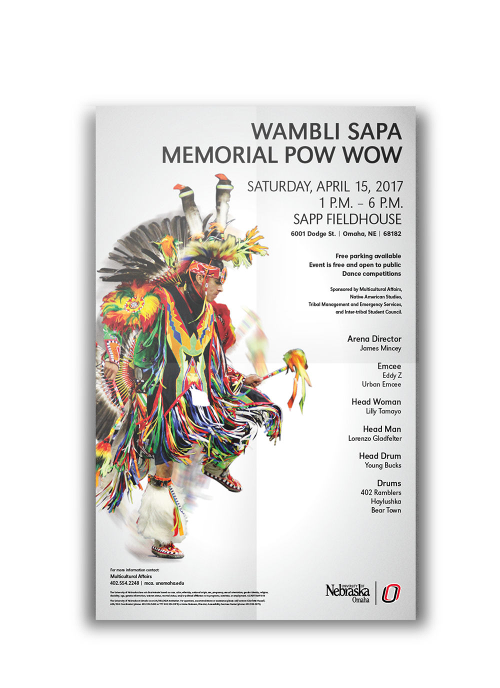 UNO Pow Wow - This Poster was for a Pow Wow event being held at the University of Nebraska at Omaha.