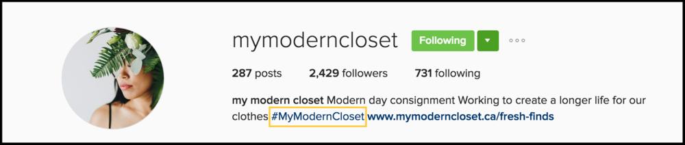 my modern closet
