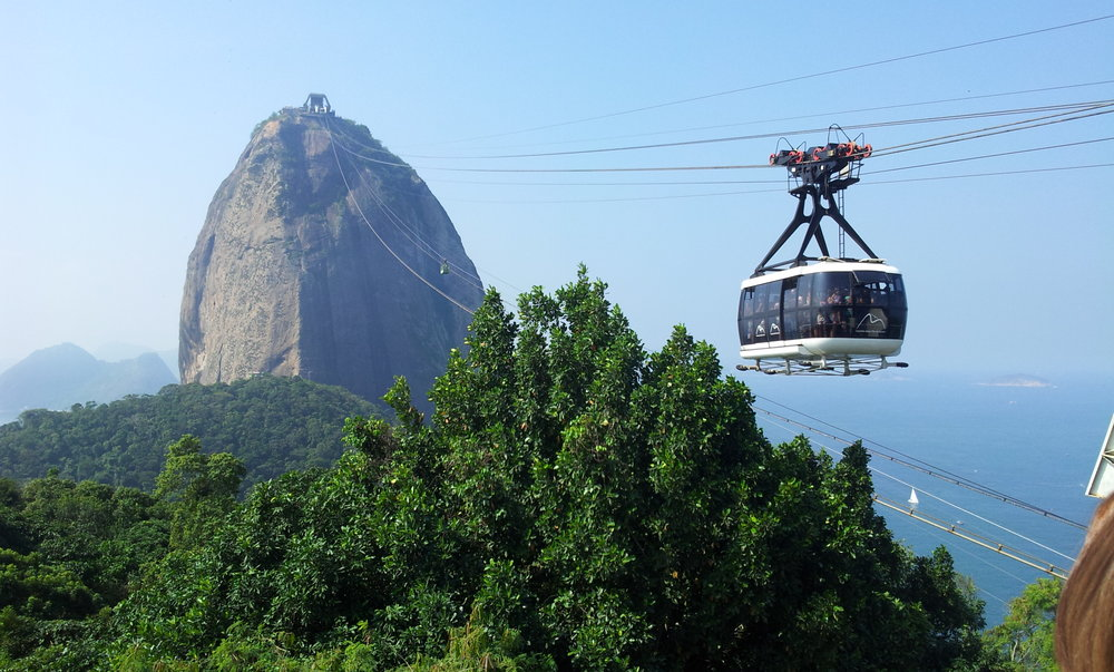 the cable car to Sugar Loaf peak