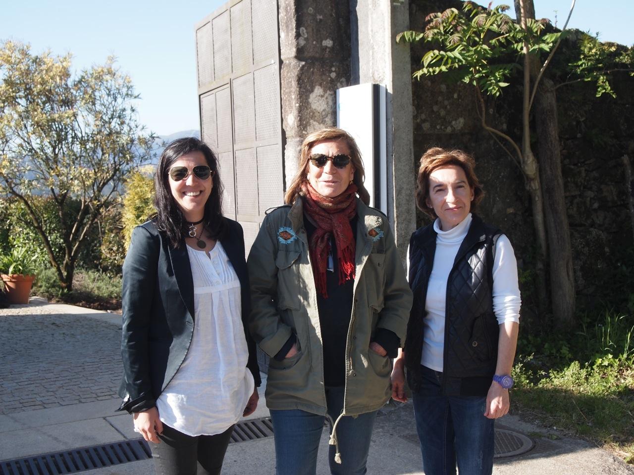Vicky Bueno, Marisol Bueno and Ana Quintela of Pazo de Señorans.
