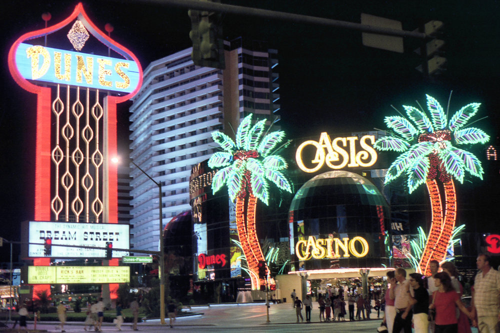 The front of the Dunes Casino in 1983.
