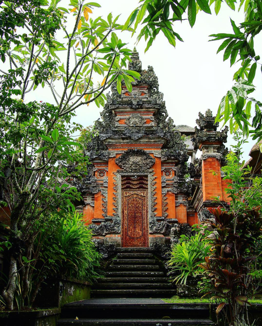 Pura Taman Saraswati  With carvings that honor Dewi Saraswati, the goddess of wisdom and the arts, and lotus filled water surrounding, this Hindu temple is a must-see in Ubud.