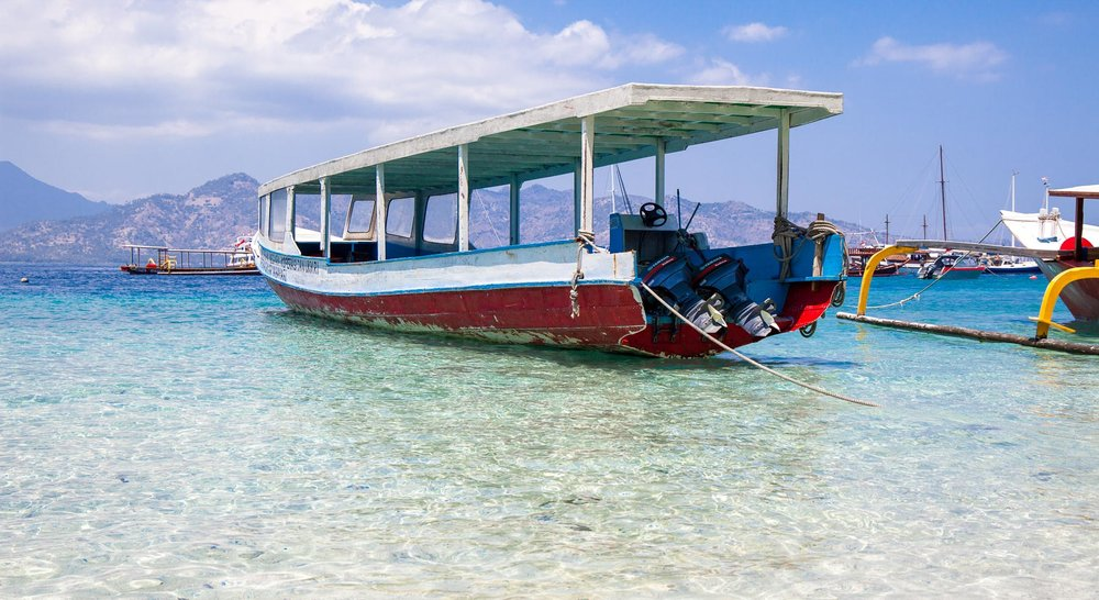 Boat to other Gili Islands   Take a boat ride to visit Gili Air and Gili Meno.  Gili Islands, Gili Indah, Pemenang, North Lombok Regency, West Nusa Tenggara, Indonesia  Photo courtesy of Dan Flying Solo