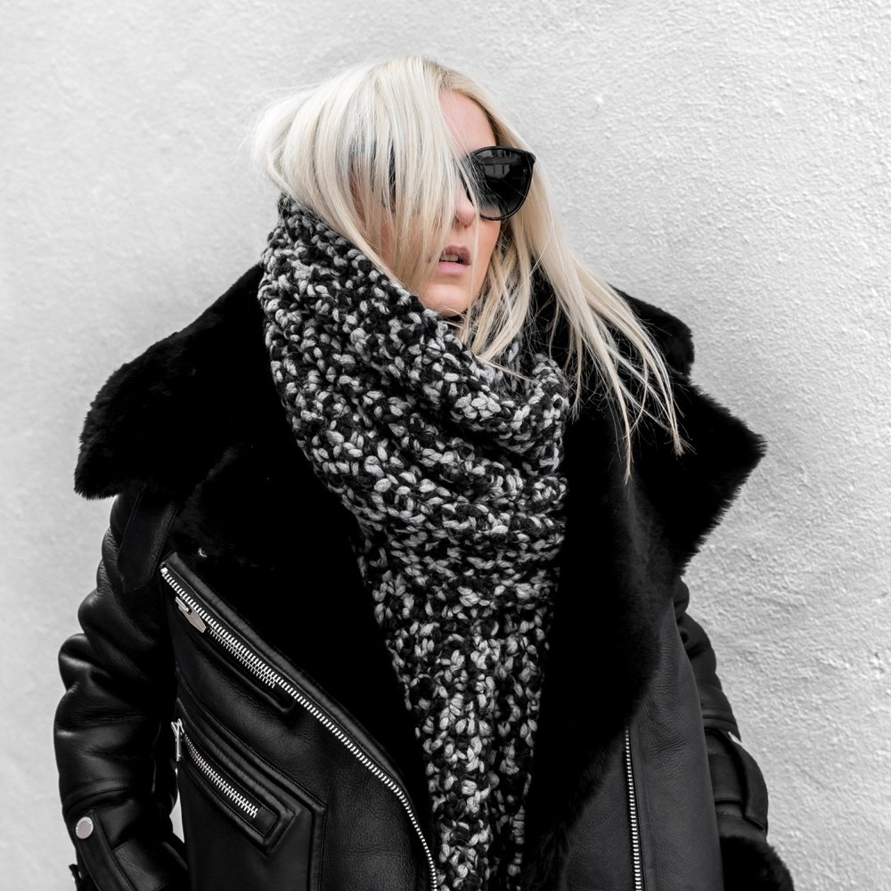 @figtny  in her leather by the Arrivals NYC.