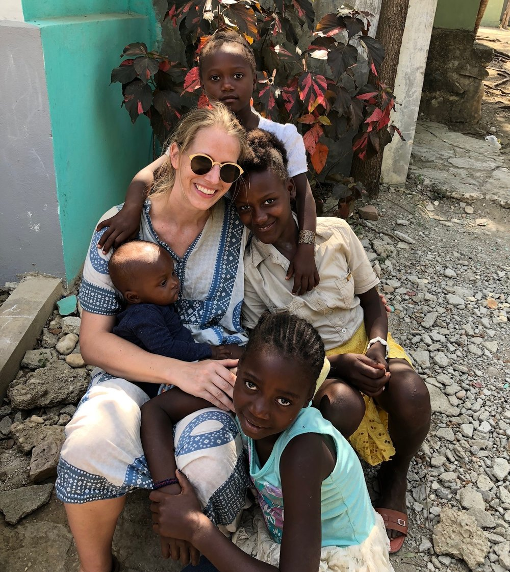 @megdowdy befriends the local Nicaraguans while volunteering there and wearing her    É  tienne Marcel  frames.